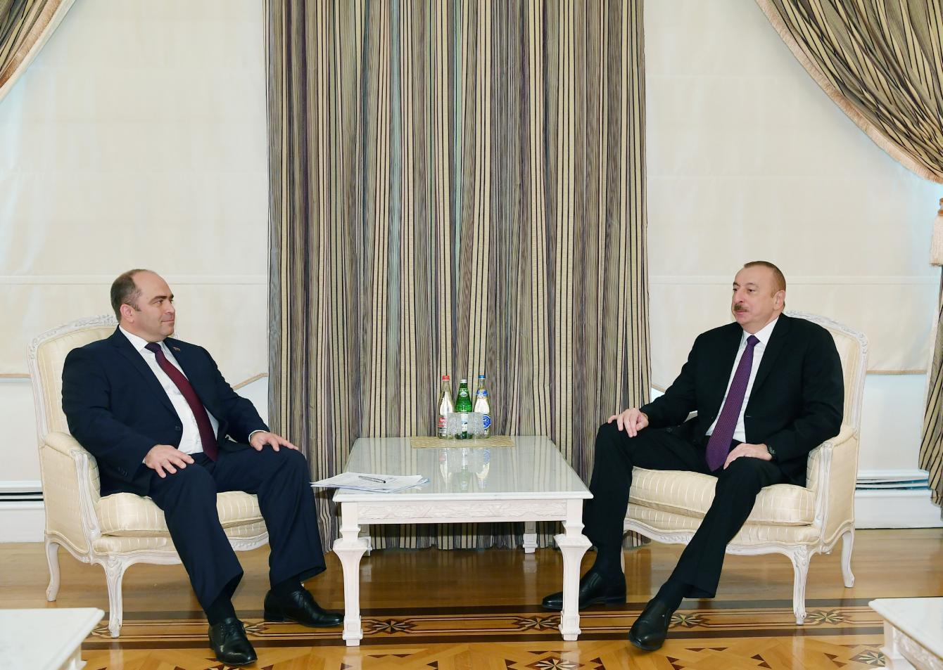 İlham Əliyev Belarusun Baş nazirinin müavinini qəbul edib
